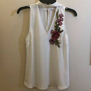 Embroidered White Dress Top
